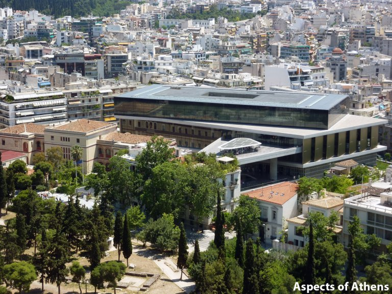 view from the Acropolis, Acropolis Museum