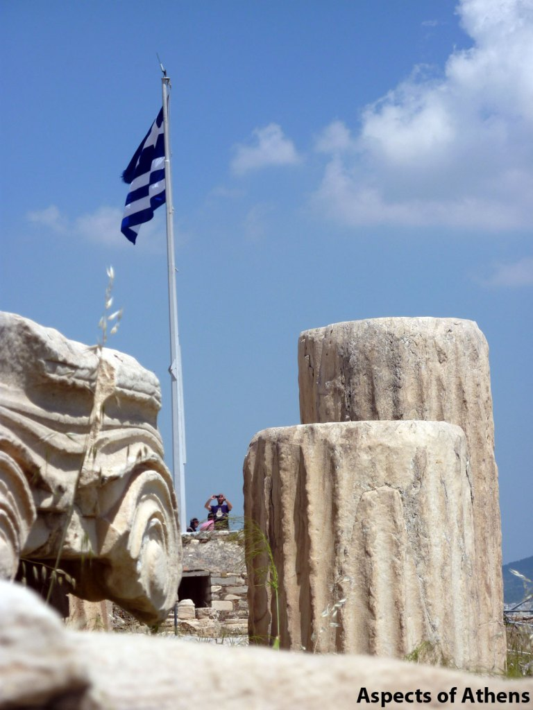 Acropolis of Athens: Marbles, Columns and the Greek Flag