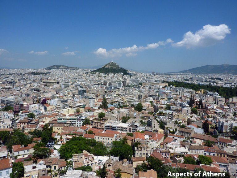 View from the Acropolis: Lycabettus Hill