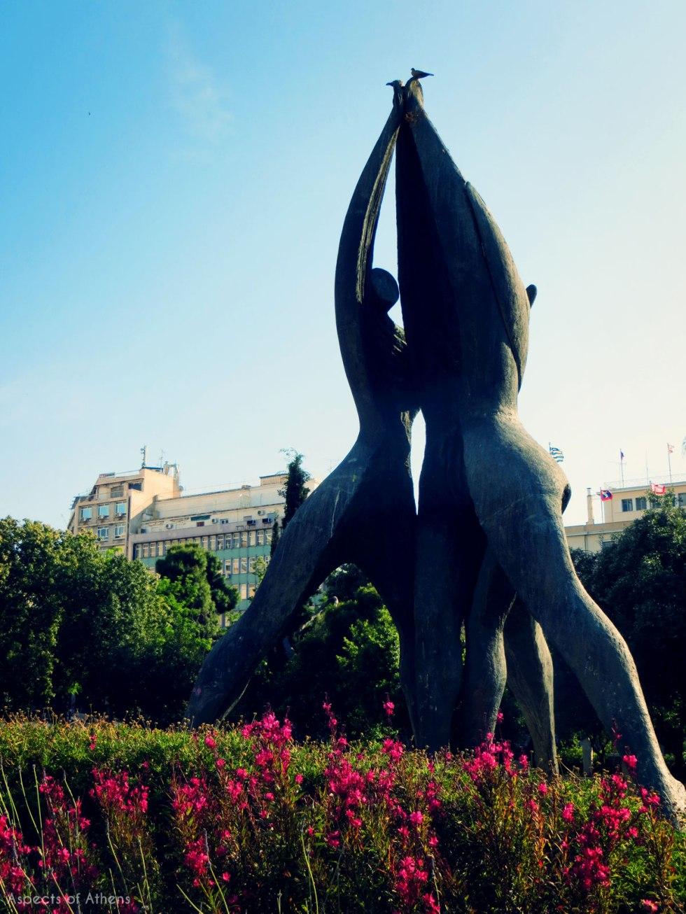 Klafthmonos square, National Reconciliation statue